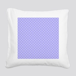 Periwinkle and White Floral D Square Canvas Pillow